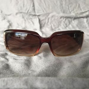 Fossil Sunglasses w/Gold Accents - Bronze Color